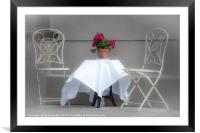 Tea For Two, Framed Mounted Print