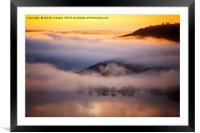 Windermere mist., Framed Mounted Print