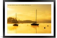 Tranquil dawn., Framed Mounted Print