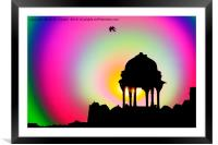 Indian temple., Framed Mounted Print