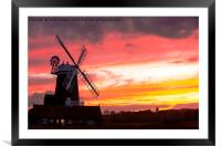 Cley Mill., Framed Mounted Print