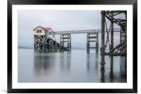 Old Mumbles life boat house, Framed Mounted Print