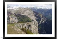 French lower alpine valley, Framed Mounted Print