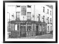The Old Kings Head Public House, London EC2A, Framed Mounted Print