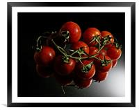 Tomato reflections, Framed Mounted Print