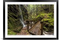 The Sometimes Waterfall, Framed Mounted Print