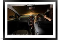 Night Driving, Framed Mounted Print