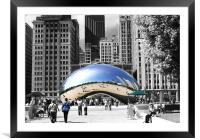Cloud Gate, Framed Mounted Print
