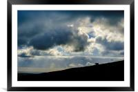 Sheep and Sky, Framed Mounted Print