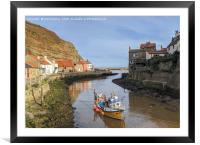 Staithes boat, Framed Mounted Print