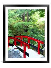 The Red Bridge, Framed Mounted Print