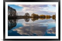 Symmetry. Spring in Moscow region., Framed Mounted Print