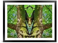 Forest Greeting , Framed Mounted Print