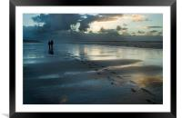 Foot prints in the sand, Framed Mounted Print
