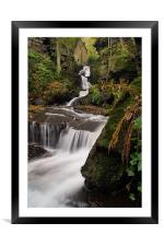 Lumsdale Valley Falls, Framed Mounted Print