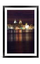 Liverpool River Mersey, Framed Mounted Print