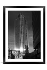 Tower 42 London, Framed Mounted Print
