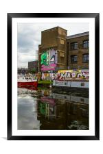 River Lea at Hackney Wick, Framed Mounted Print