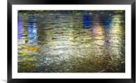 Reflections in the fountain Fractals, Framed Mounted Print