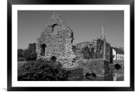 Christchurch Priory grounds, Framed Mounted Print