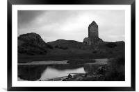Smailholm Tower, Framed Mounted Print