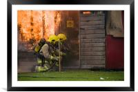 shed fire, Framed Mounted Print