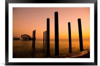 West Pier Brighton, Framed Mounted Print