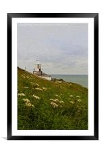 Whitby Lighthouse, Framed Mounted Print