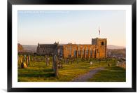 St Marys Church Whitby, Framed Mounted Print