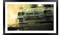 Opel Manta up close and personal, Framed Mounted Print