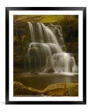 East Gill Upper Falls, Framed Mounted Print