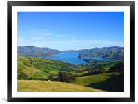Green and blue , Framed Mounted Print