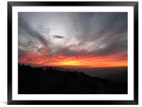 fire in the sky, Framed Mounted Print