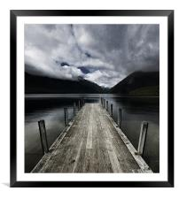 Nelson Lakes National Park, New Zealand, Framed Mounted Print