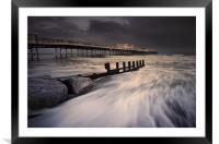 Worthing Pier Storm Force, Framed Mounted Print