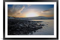 Ballygally sunset, Framed Mounted Print