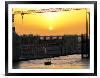 Sunrise over King Saud University, Framed Mounted Print
