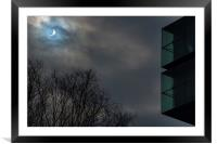 Solar Eclipse in Manchester, Framed Mounted Print
