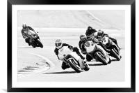 Motorcycles at Oulton Park Circuit, Framed Mounted Print