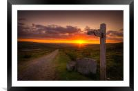 The Pennine Way, Framed Mounted Print