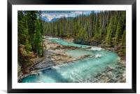 Kicking Horse River, Framed Mounted Print