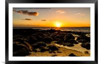 Sunrise In Cotton Bay, Framed Mounted Print