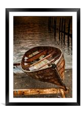 The Rowing boat, Framed Mounted Print