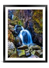 Lodores Fall, Framed Mounted Print