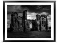 Tynemouth Priory, Framed Mounted Print