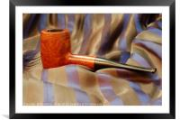 wooden pipe , Framed Mounted Print