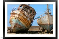 boats at dry dock, Framed Mounted Print