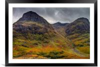 The Three Sisters of Glen Coe, Framed Mounted Print