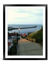 Whitby After Sun Down, Framed Mounted Print