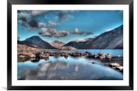 Wastwater on the Rocks, Framed Mounted Print